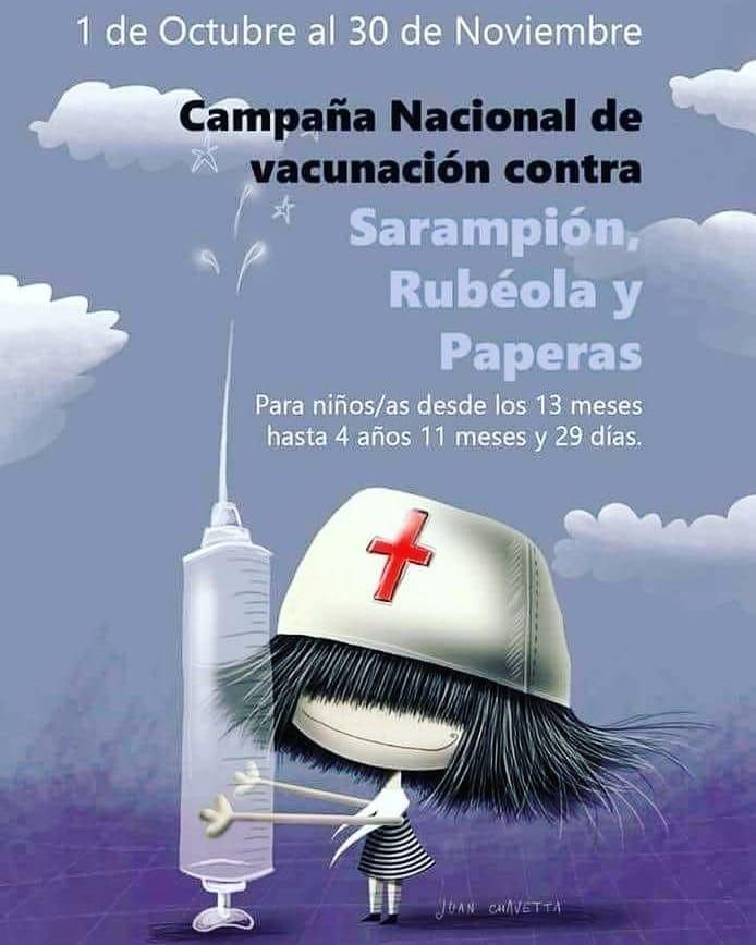 Comienza la campaña de vacunación de refuerzo contra sarampión y rubéola