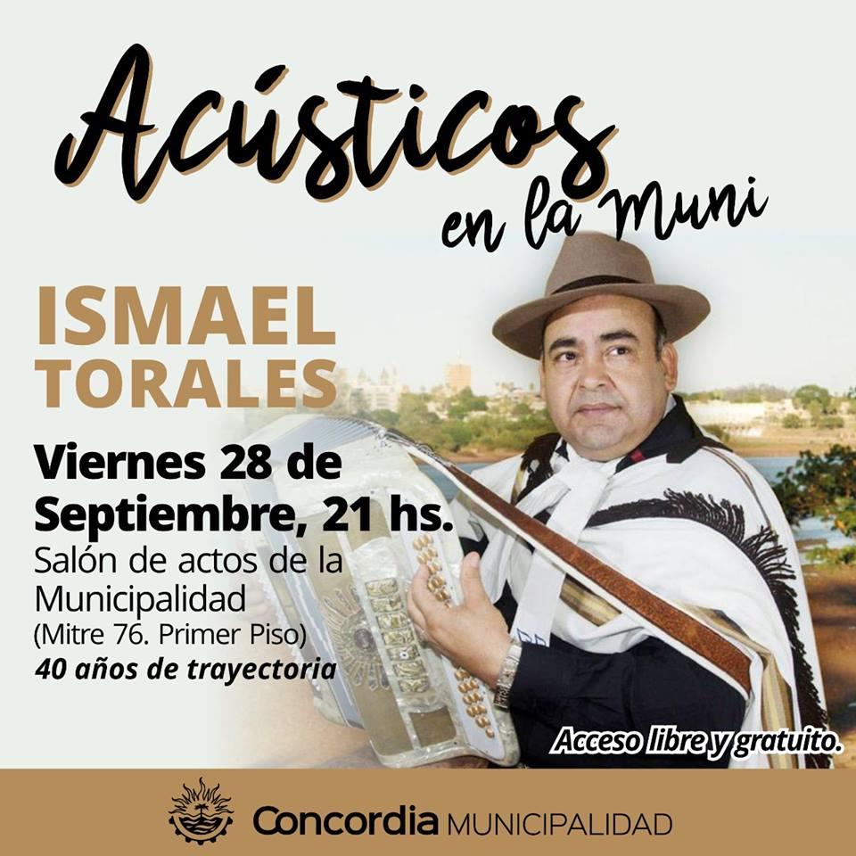Homenaje a los 40 años de trayectoria de Ismael Torales.