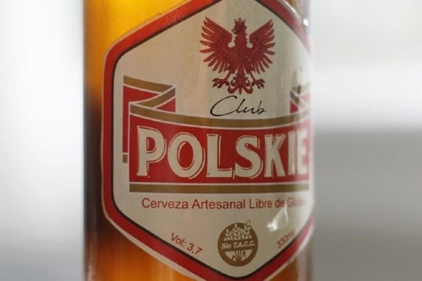 """Cerveza artesanal, Libre de Gluten, marca Club Polskie"""