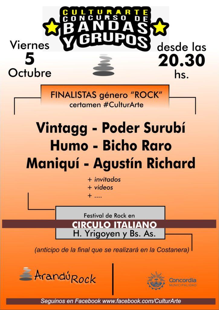 CulturArte Festival de rock en el Círculo Italiano