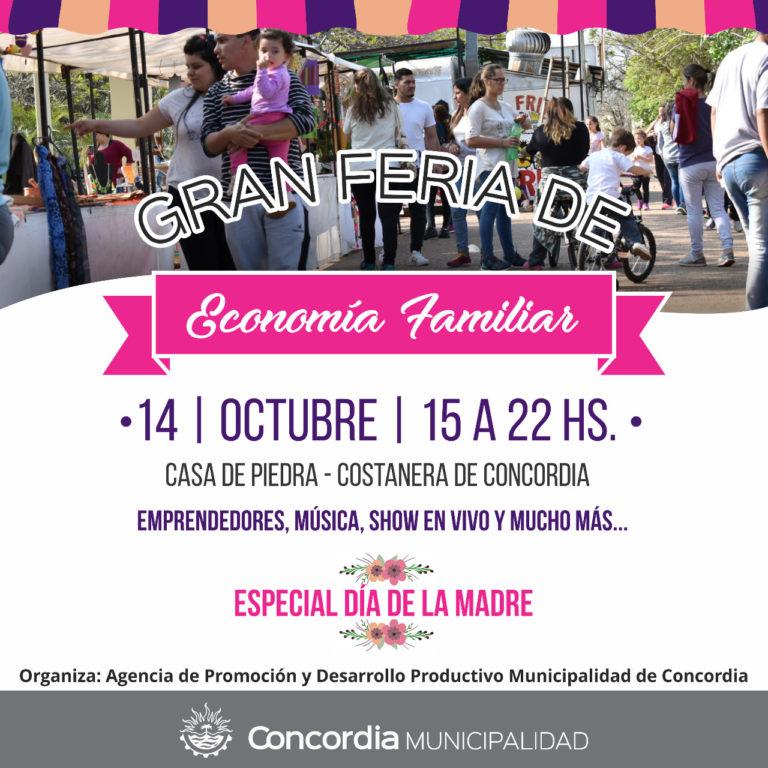 Feria de Economía Familiar por el Día de la Madre en la Costanera