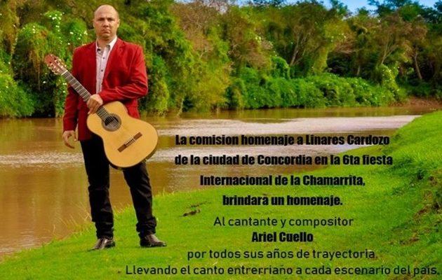 Ariel Cuello en la Fiesta Internacional de la Chamarrita