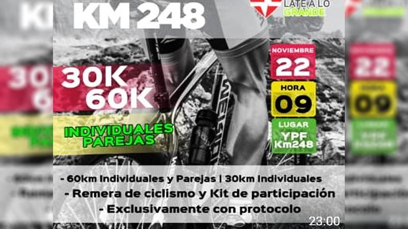 En noviembre el Mountain Bike vuelve con todo en el km 248