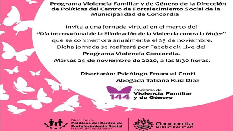 Jornada virtual – Violencia Familiar y de Género