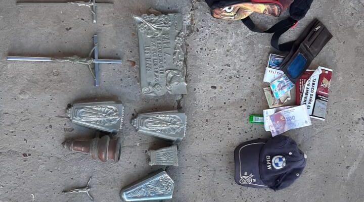 Un hombre fue detenido tras sustraer elementos en el cementerio municipal de Chajarí